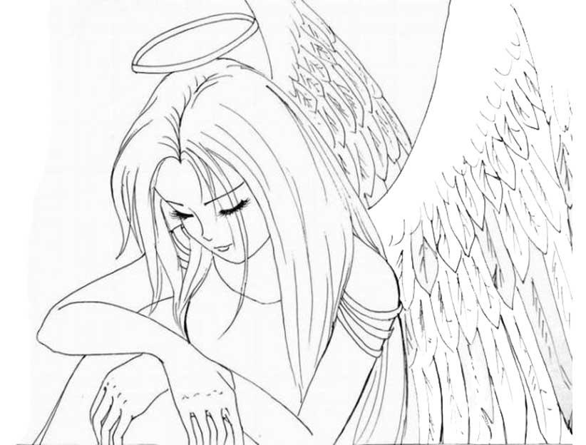 раскраски аниме девушки феи няшки парни кошки ангелы любовь