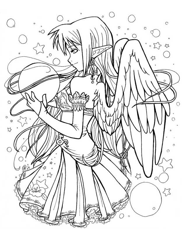 Раскраски для девочек аниме девочек