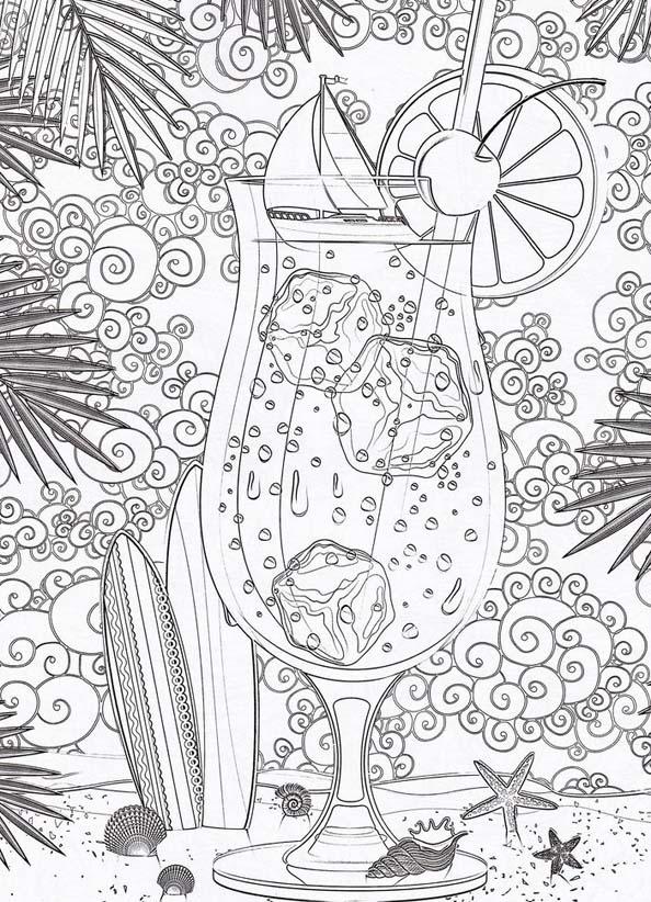 Раскраска девушки в платьях антистресс