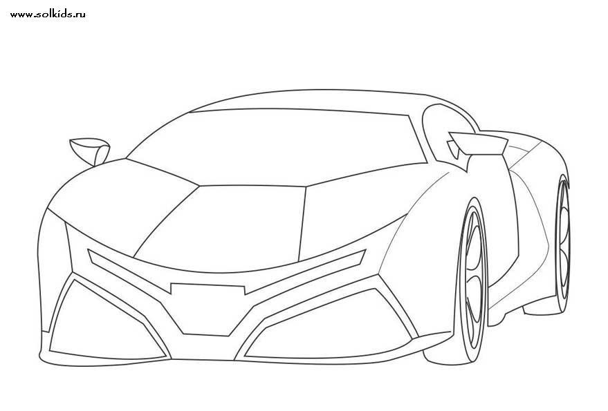 рисунки гоночных машин ламборджини
