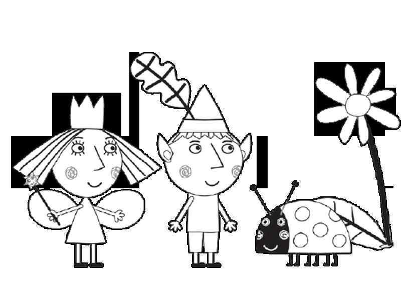 раскраска бен и холли маленькое волшебное королевство