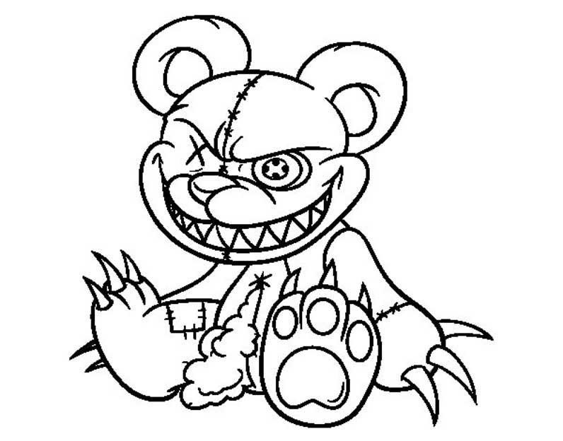 Играть раскраска мишка фредди