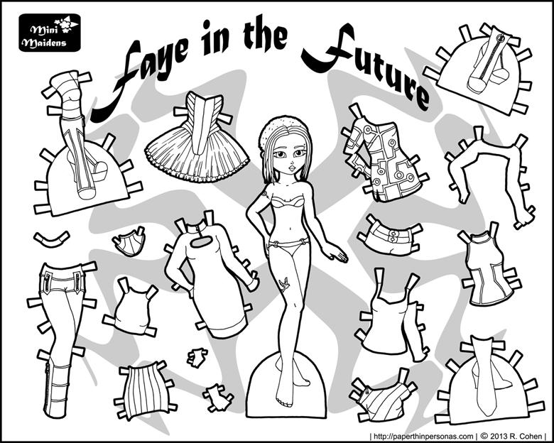 Бумажная кукла с платьями распечатать