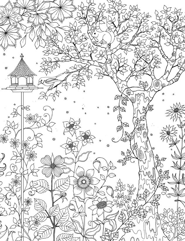 раскраска зачарованный лес таинственный сказочный волшебный