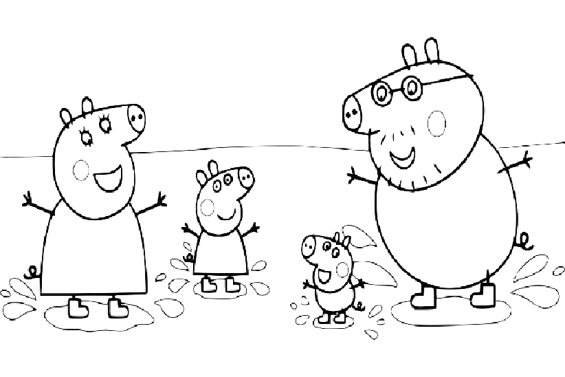 свинка пеппа раскраски распечатать
