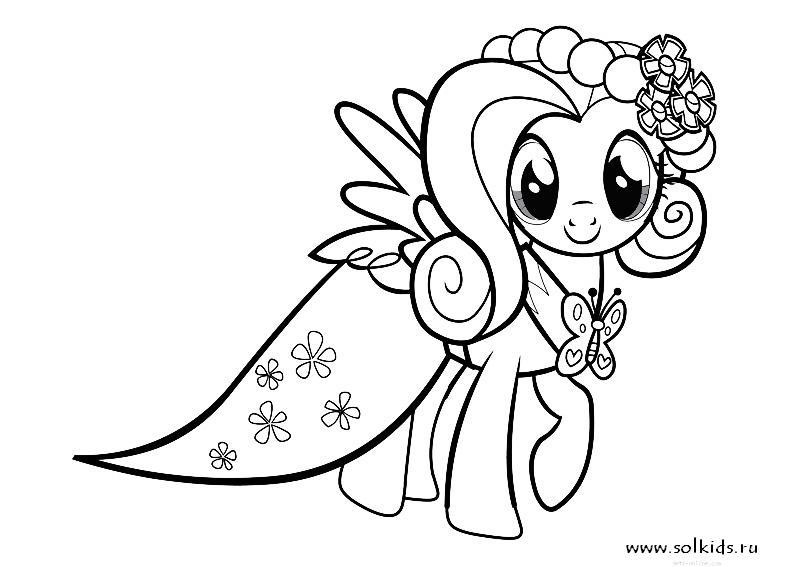 Раскраска моя маленькая пони | раскраски дружба–это чудо.