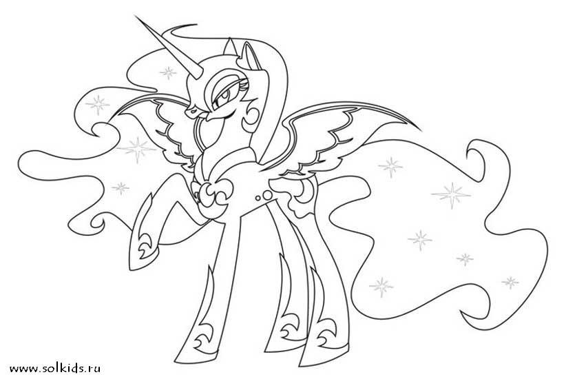 Принцесс луна раскраска