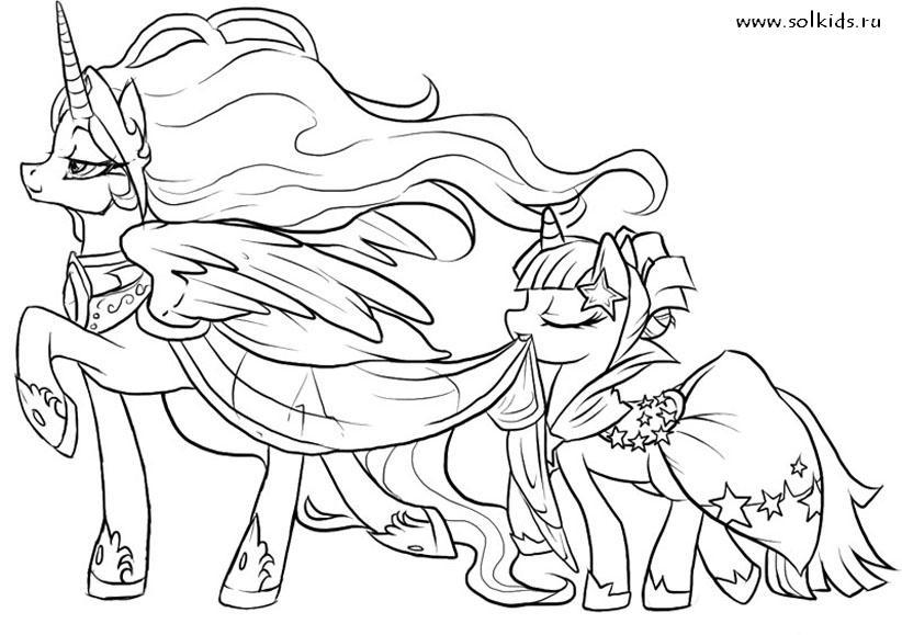 раскраски пони единороги для детей