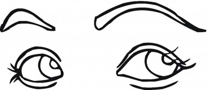 картинка глаза для детей раскраска
