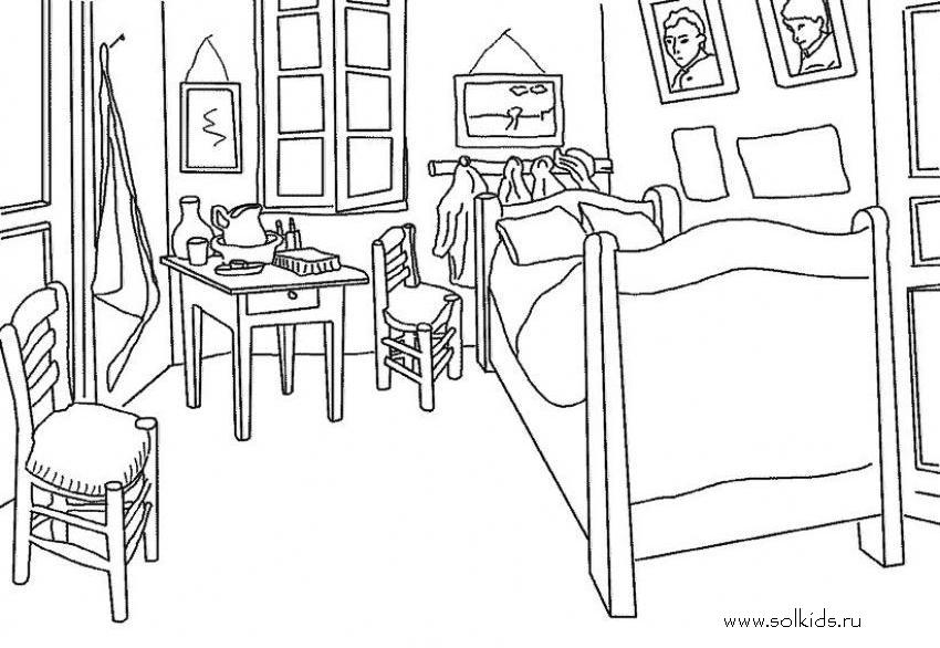 Винкс комнаты раскраска