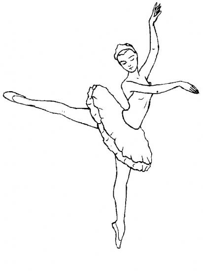 Девушка и балет распечатать бесплатно