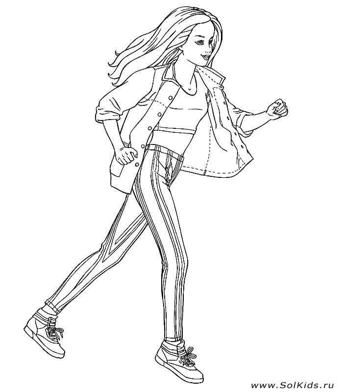 Раскраска Барби принцесса для девочек