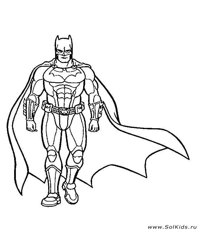 Раскраска бэтмена онлайн бесплатно
