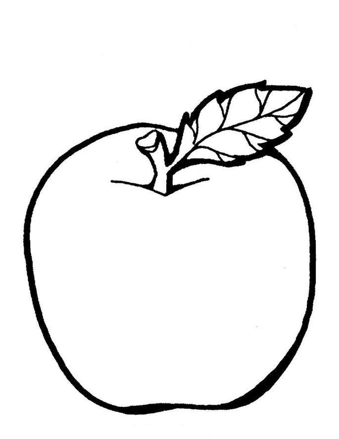 Картинки раскраски яблок для детей