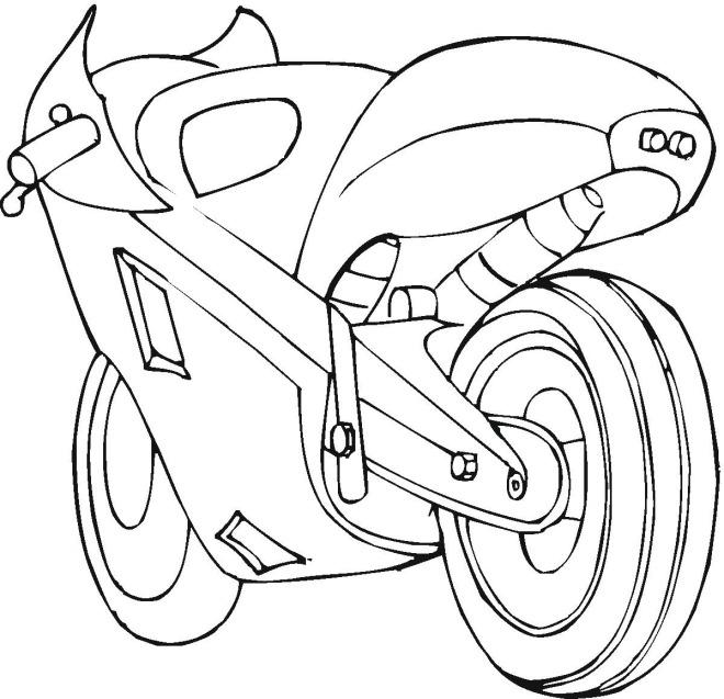 Раскраска картинка Мотоцикл онлайн для мальчиков