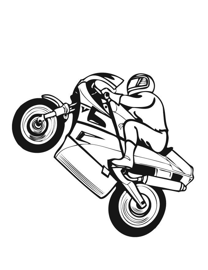 Раскраска Мотоциклы онлайн для мальчиков