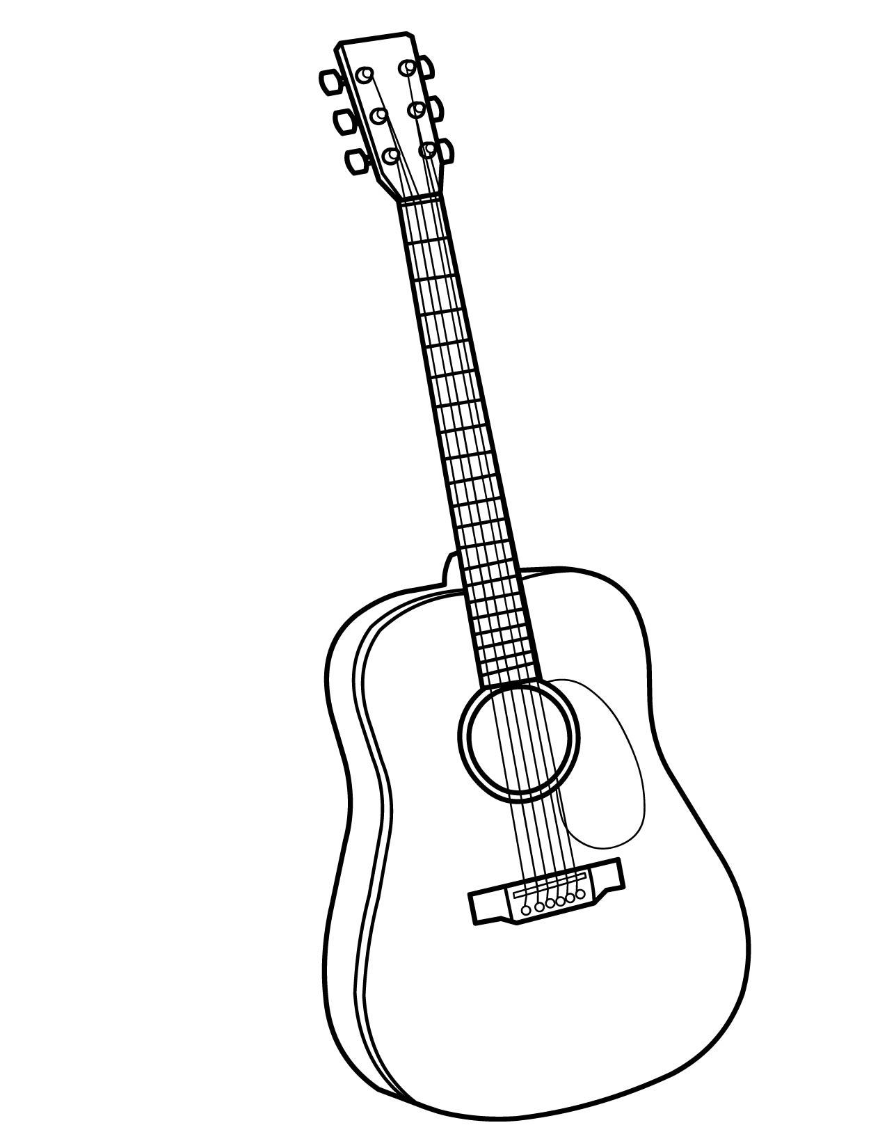 Гитары раскраски