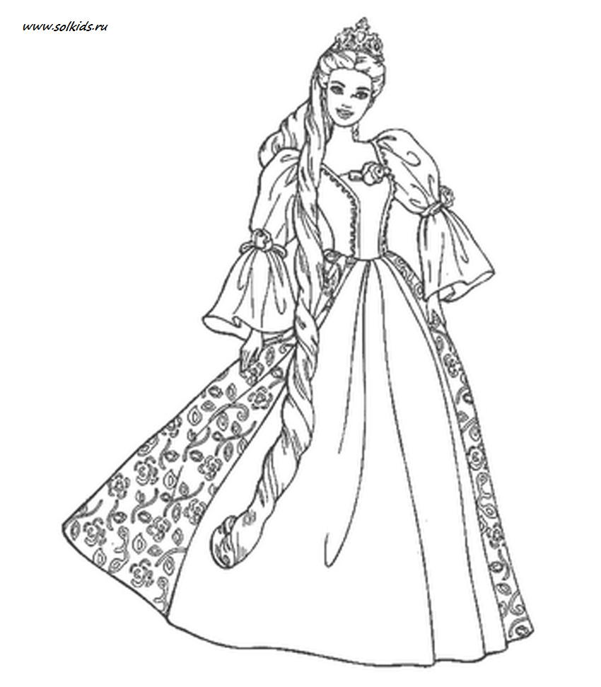 раскраски принцессы диснея для девочек распечатать в