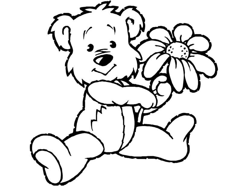 Медвежонок раскраска для малышей