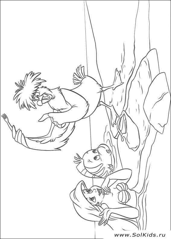 скачать раскраску русалочка ариэль