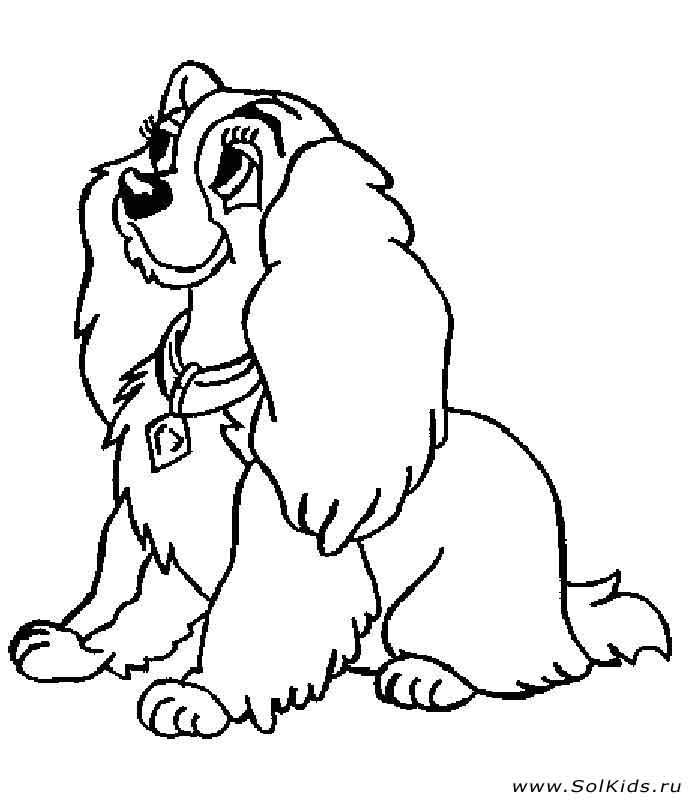 Раскраски собачка бесплатно для детей