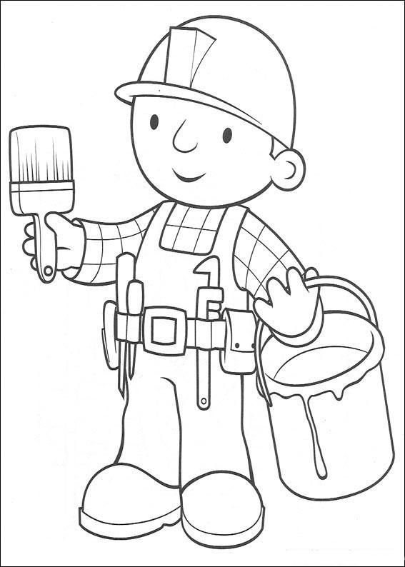 Раскраска строитель и стройка