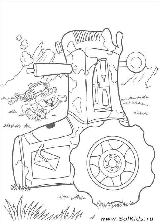 Раскраски Тачки 2 - МакВин для мальчиков