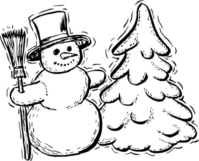 Раскраска а4 снеговика 187
