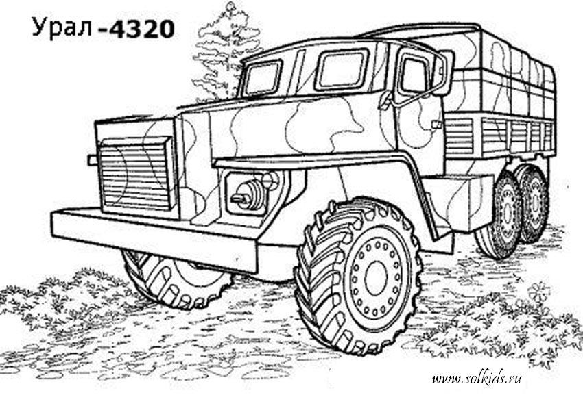 Раскраска военная техника скачать онлайн и распечатать