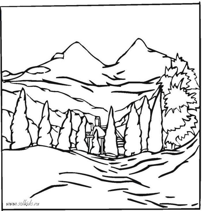 Картинки для раскрашивания для детей природа