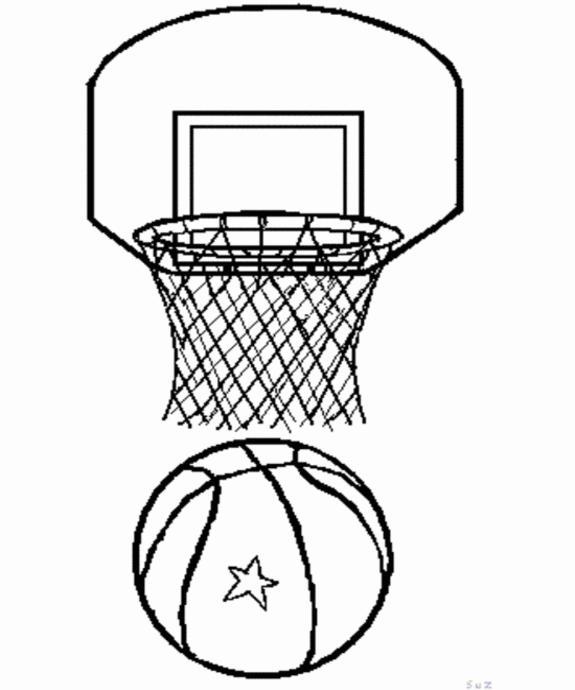 Раскраска баскетбольная корзина