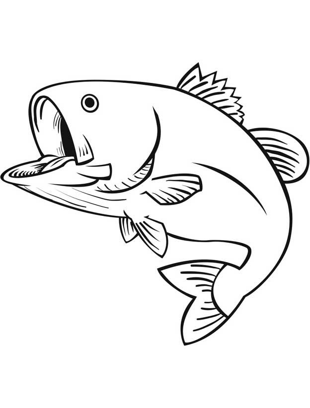 Раскраска Рыбы для детей