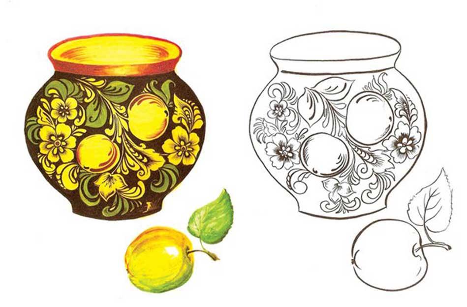 Рисунок для росписи раскраска