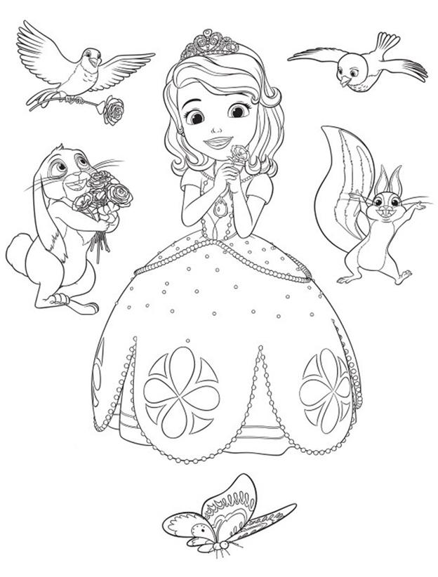 раскраска софия прекрасная принцесса для девочек