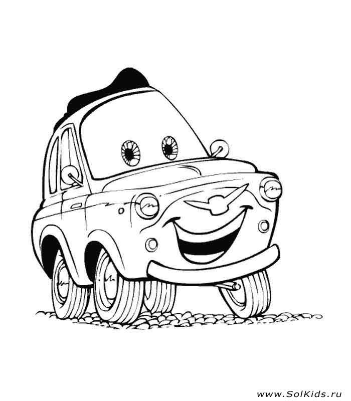 Раскраски из мультфильма Тачки (Cars) | 800x700