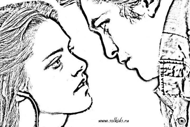 раскраска сумерки для девочек распечатать онлайн