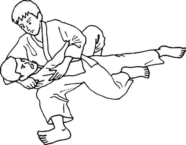 раскраска борцы на ринге